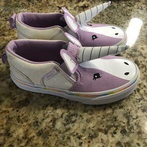 Vans Asher unicorn low top slip on Kids size 11